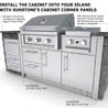 stainless steel appliance cabinets