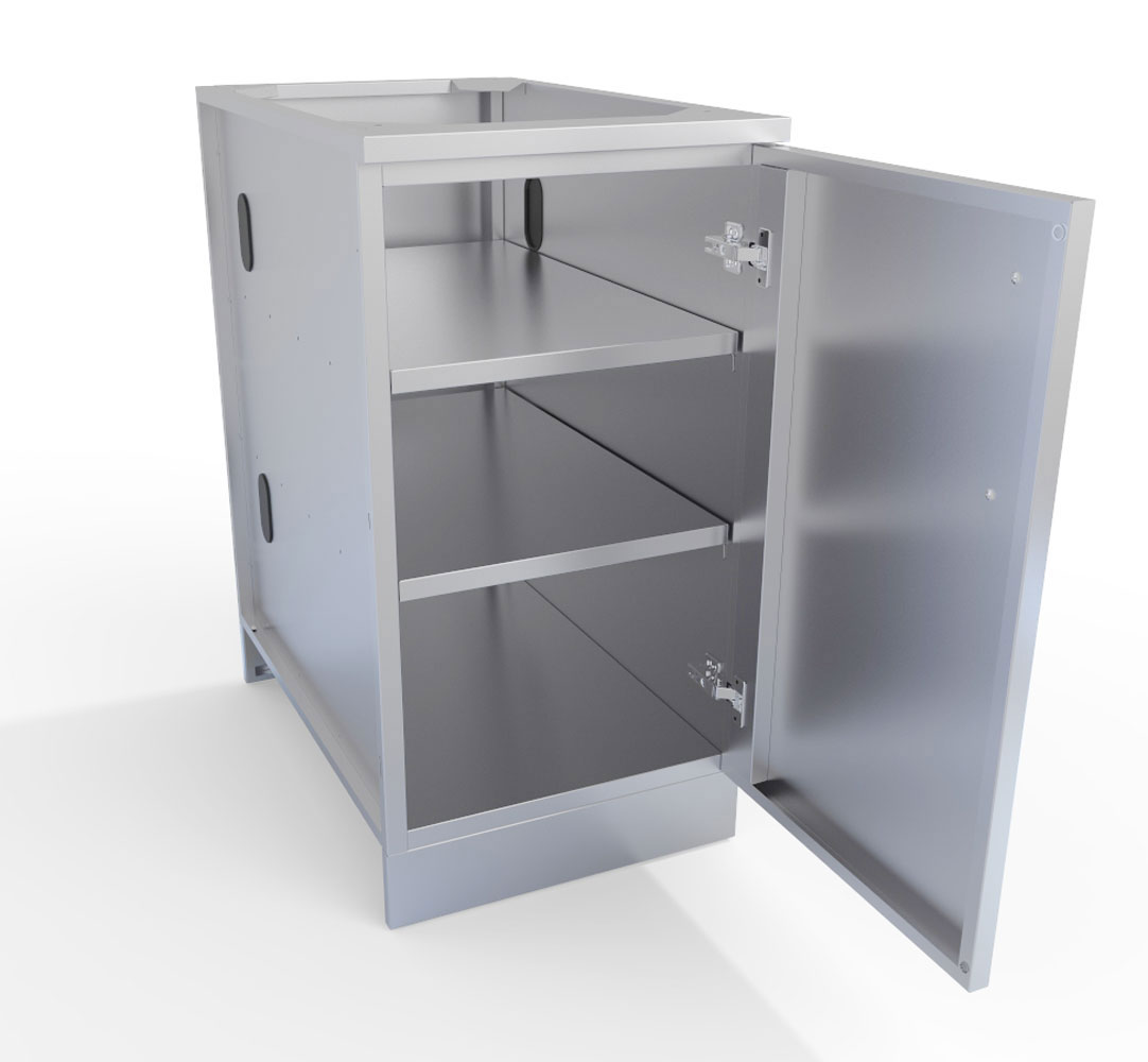 Excellent Cabinet With Shelves And Doors Exterior