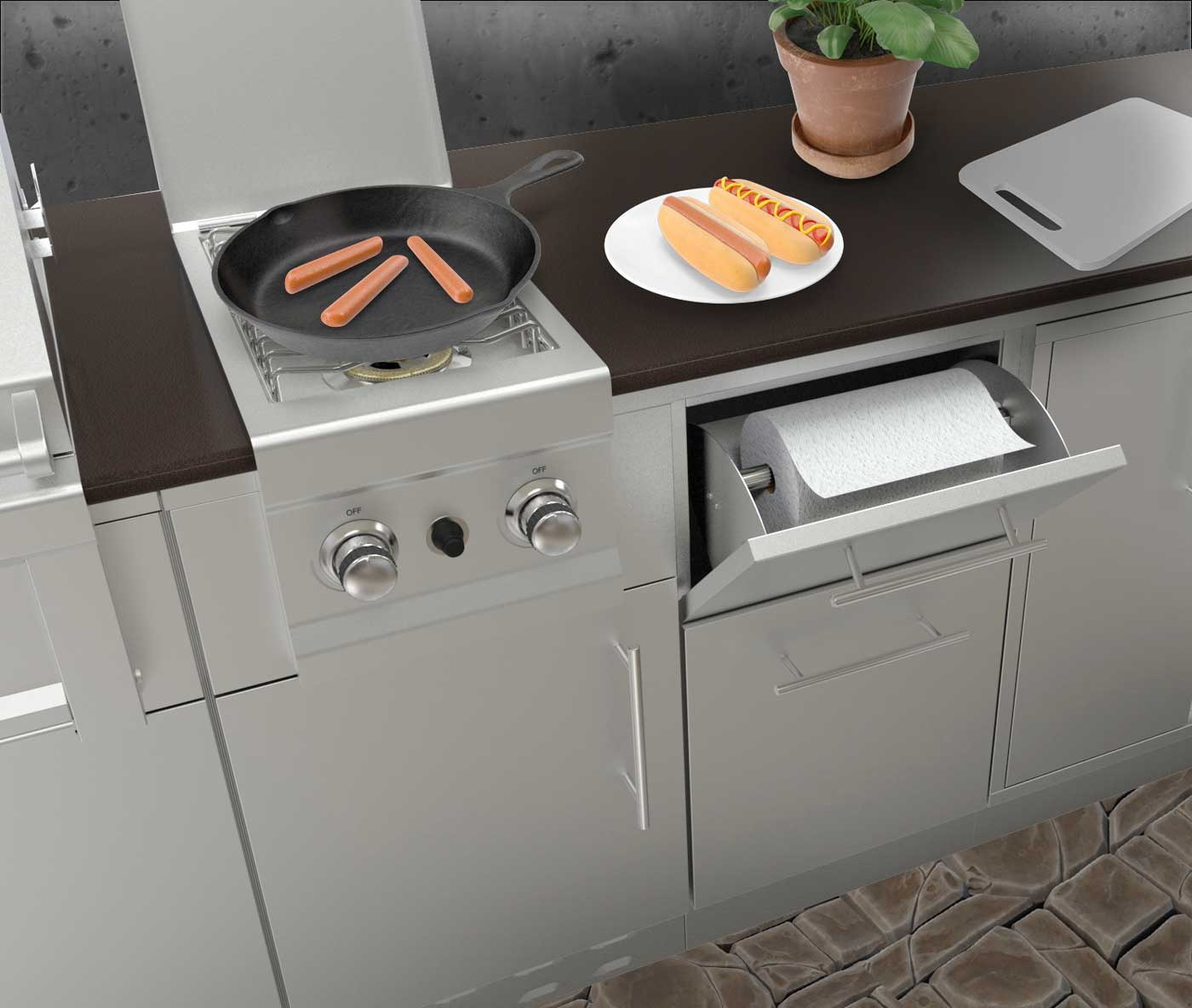 ... Stainless Steel Appliance Cabinets ...