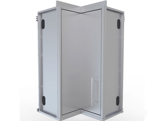 12  x 12  Full Height 360 Swivel Door Corner Cabinet w/Three Shelves Item No.SWC12SLS  sc 1 st  Sunstone Metal Products & Stainless steel Cabinets-Wall Cabinets: sunstonemetalproducts.com