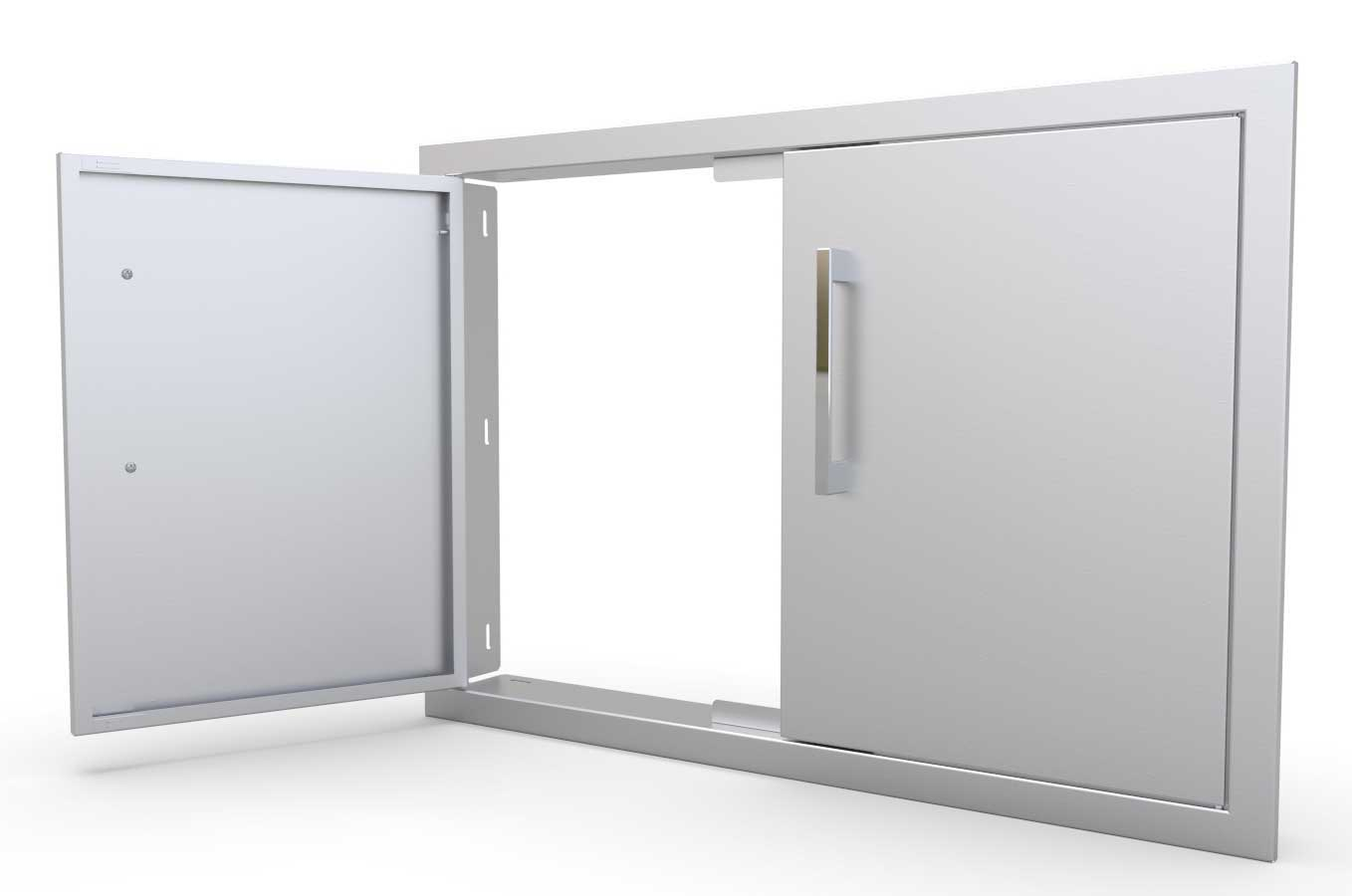 BBQ Access Doors ...  sc 1 st  Sunstone Metal Products & Belved Double Door/ Vented :sunstonemetalproducts.com